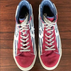 Converse Red, White, Blue Stars & Stripes High too